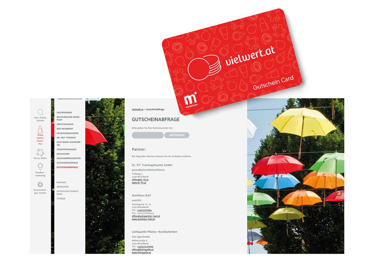 Website vielwert Gutschein Card