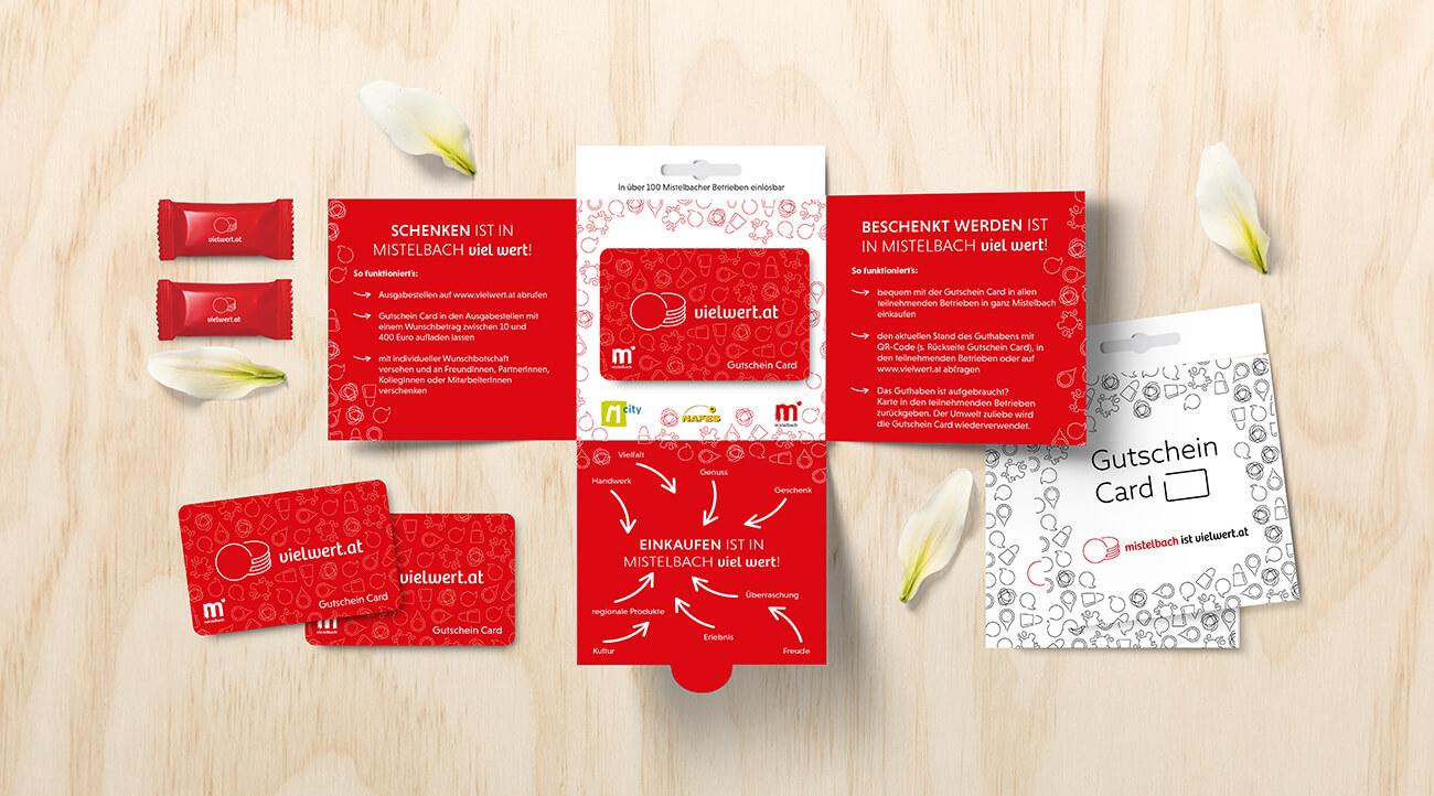 Vielwert Gutschein Card und Folder