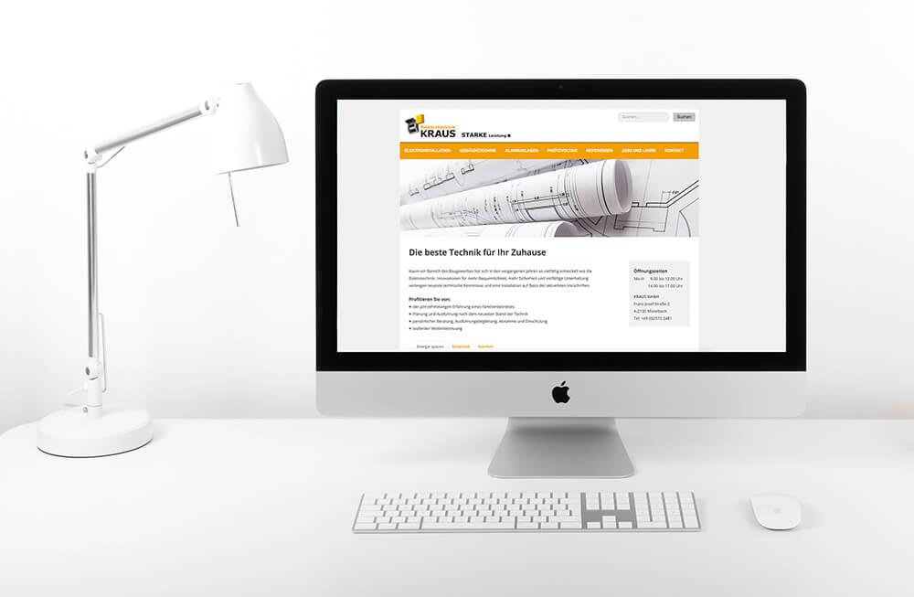 Website Eletkrotechnik Kraus