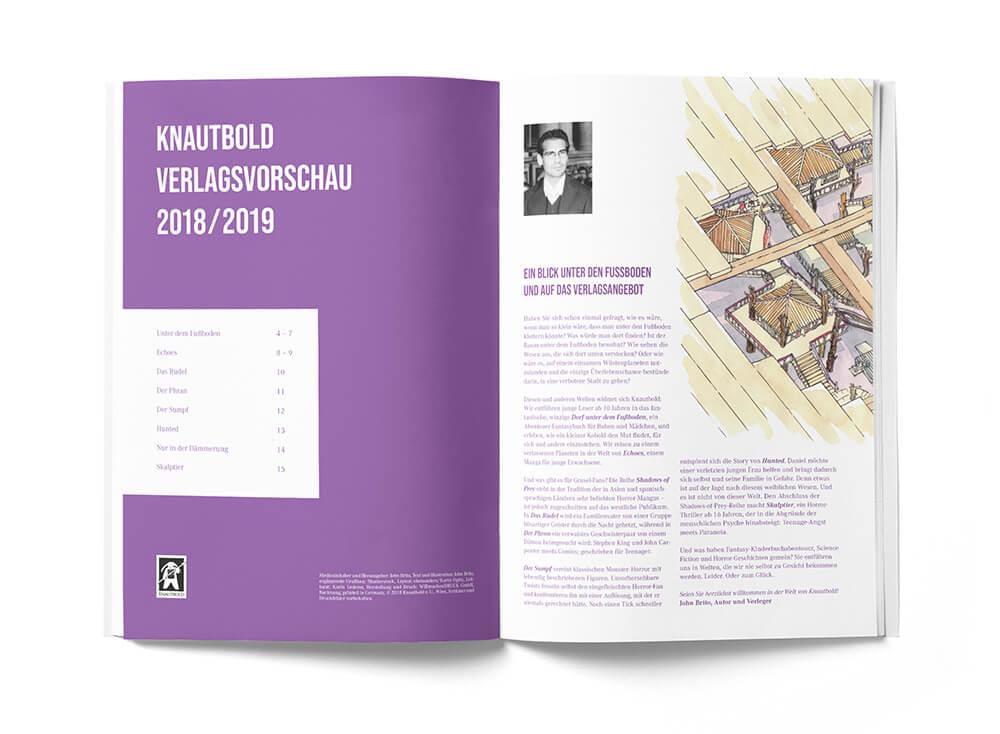 Broschüre Verlagsvorschau Knautbold Seite Seite 2 und 3