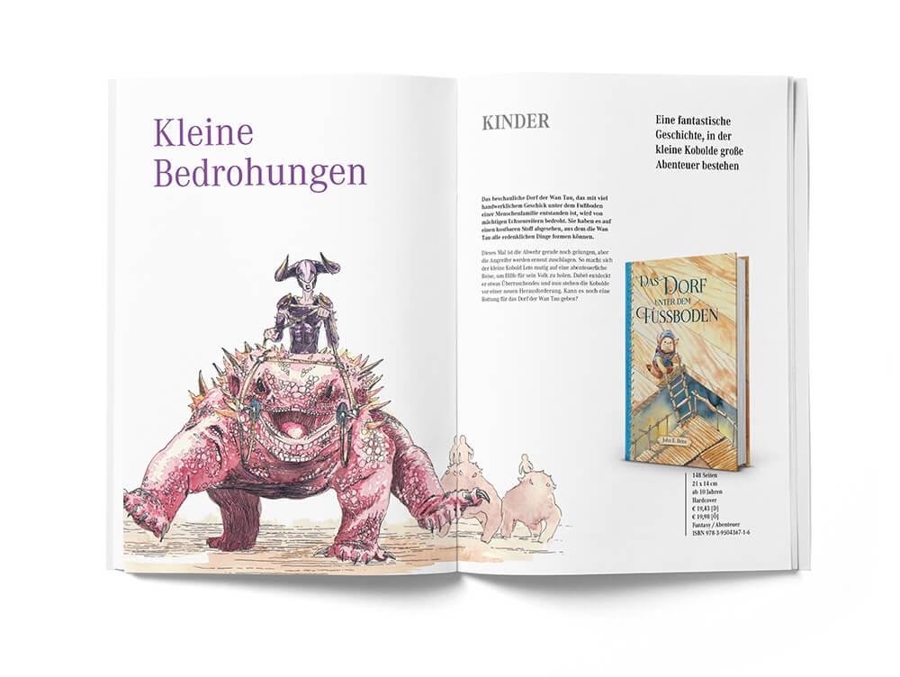 Broschüre Verlagsvorschau Knautbold Seite 4 und 5