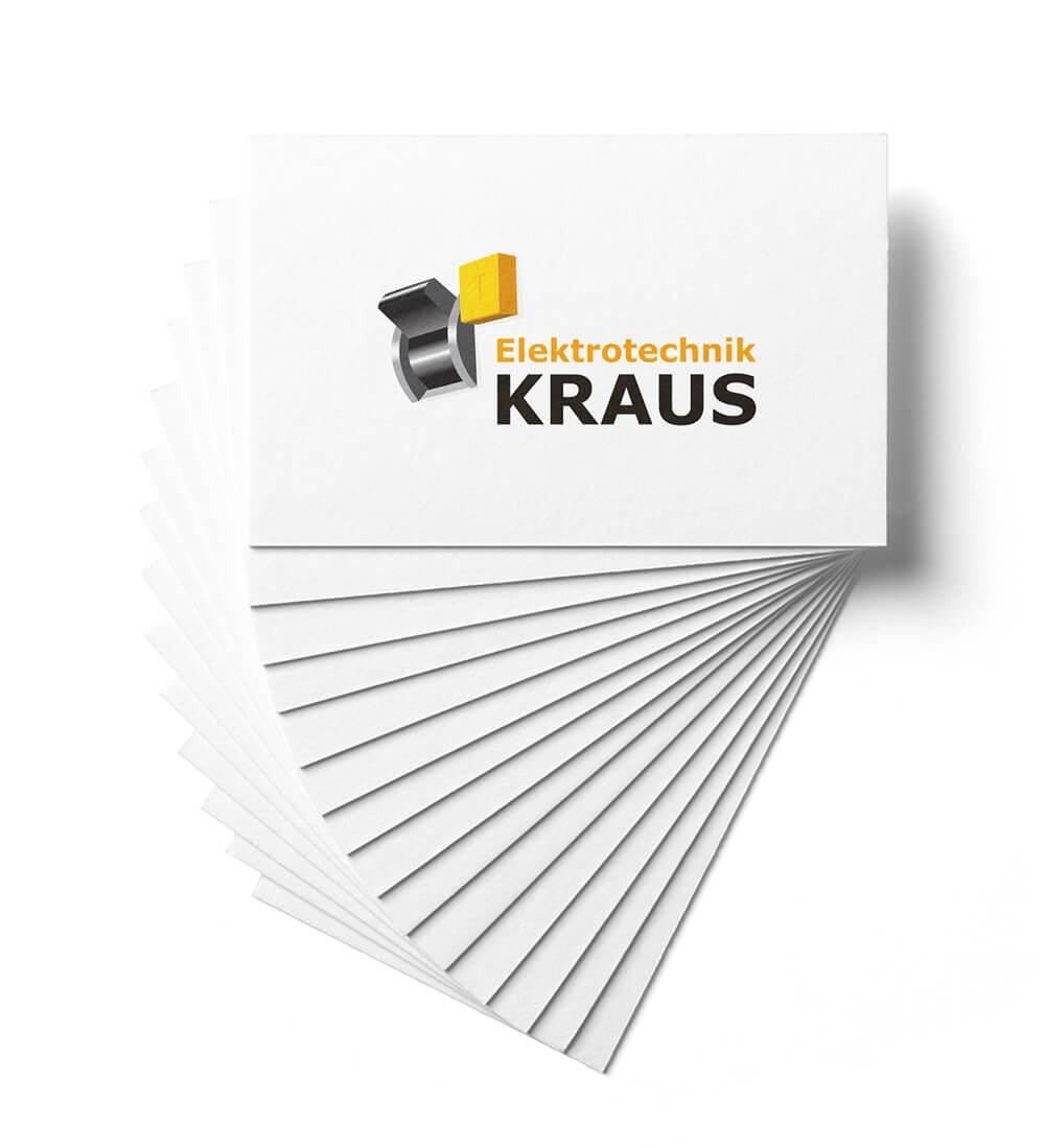 Elektrotechnik Kraus Visitkarten